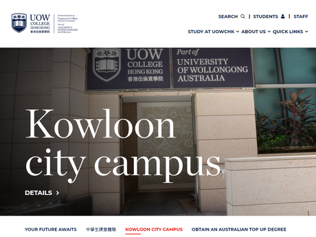 Website Screenshot of City University of Hong Kong - Community College of City University