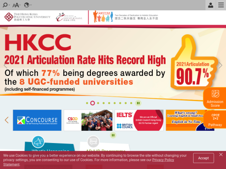Website Screenshot of The Hong Kong Polytechnic University - Hong Kong Community College