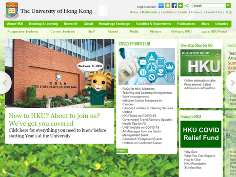 Website Screenshot of The University of Hong Kong