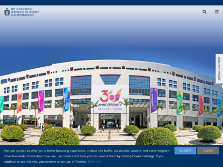 Website Screenshot of The Hong Kong University of Science and Technology