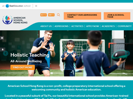 Website Screenshot of American School Hong Kong