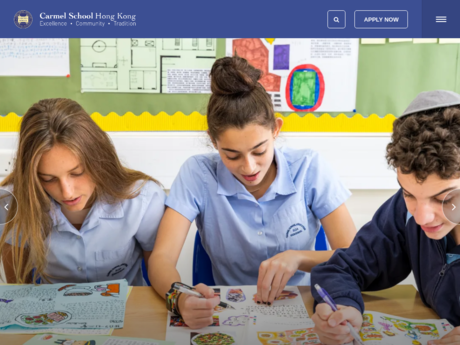 Website Screenshot of Carmel School
