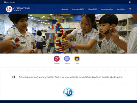 Website Screenshot of Clearwater Bay School