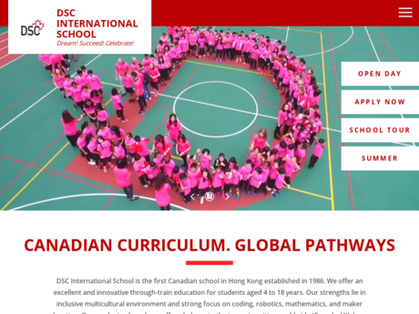 Website Screenshot of Delia School of Canada