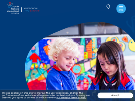 Website Screenshot of French International School