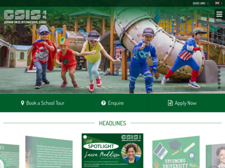 Website Screenshot of German Swiss International School
