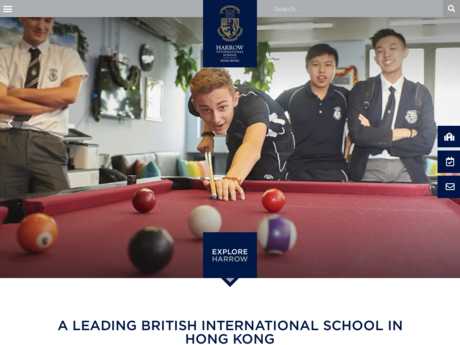 Website Screenshot of Harrow International School Hong Kong