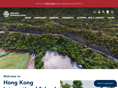 Website Screenshot of Hong Kong International School