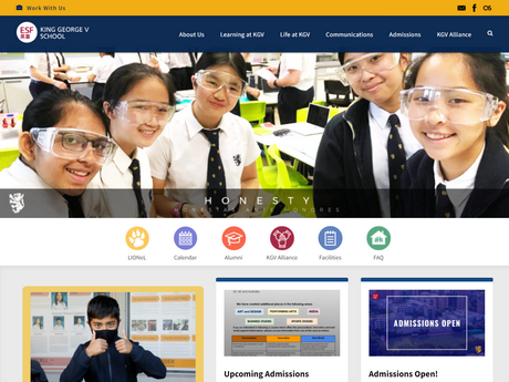 Website Screenshot of King George V School