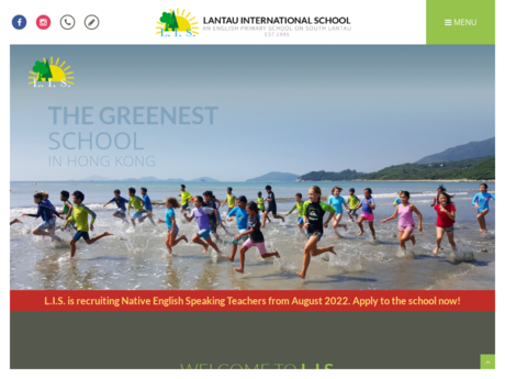 Website Screenshot of Lantau International School