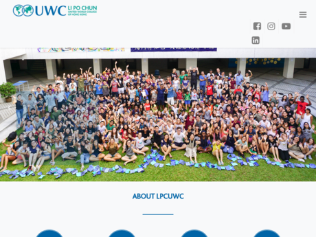 Website Screenshot of Li Po Chun United World College of Hong Kong