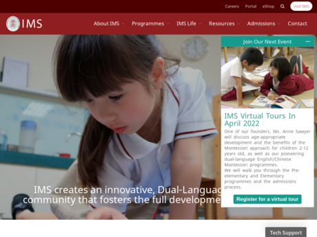 Website Screenshot of The International Montessori School