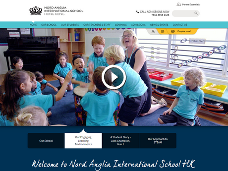Website Screenshot of Nord Anglia International School Hong Kong