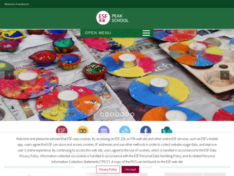 Website Screenshot of Peak School