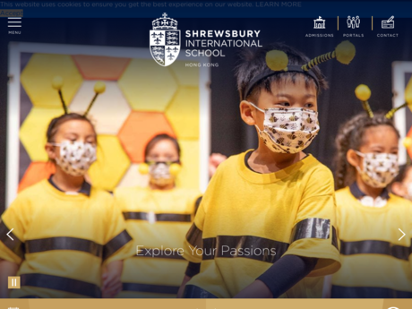 Website Screenshot of Shrewsbury International School Hong Kong