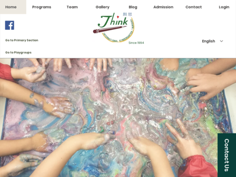 Website Screenshot of Think International School