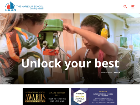 Website Screenshot of The Harbour School