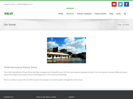 Website Screenshot of Umah International Primary School