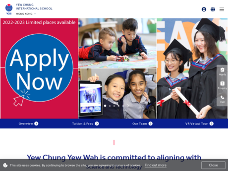 Website Screenshot of Yew Chung International School