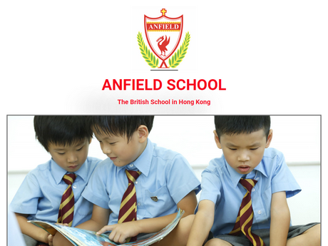 Website Screenshot of Anfield School