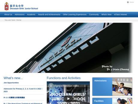Website Screenshot of Diocesan Girls' Junior School