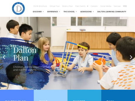 Website Screenshot of Dalton School Hong Kong