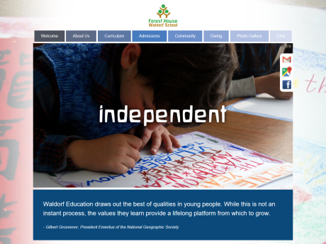 Website Screenshot of Forest House Waldorf School