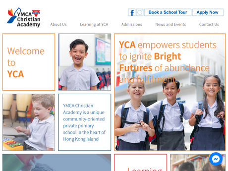 Website Screenshot of Island Christian Academy