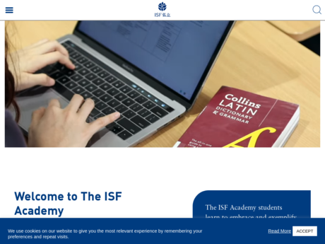 Website Screenshot of The Independent Schools Foundation Academy