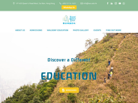 Website Screenshot of Island Waldorf School of Hong Kong