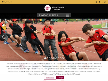 Website Screenshot of Renaissance College Hong Kong