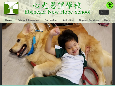 Website Screenshot of Ebenezer New Hope School