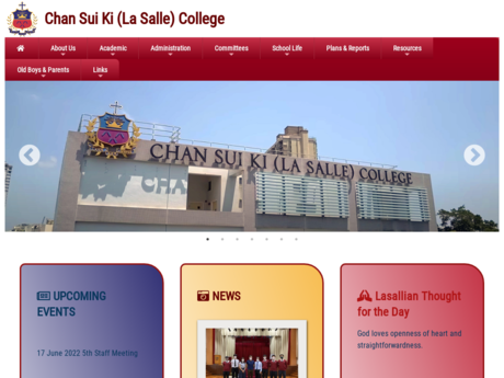 Website Screenshot of Chan Sui Ki (La Salle) College