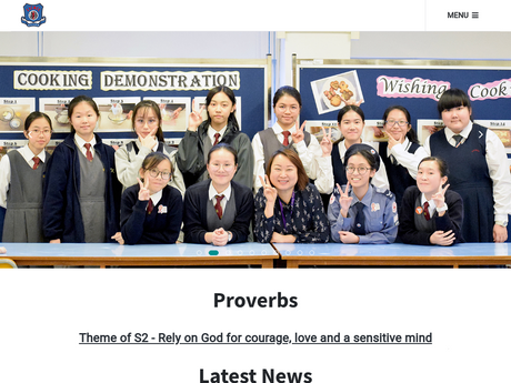 Website Screenshot of Christian Alliance Cheng Wing Gee College