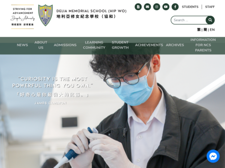 Website Screenshot of Delia Memorial School (Hip Wo)