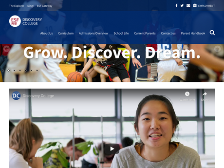 Website Screenshot of Discovery College