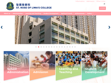 Website Screenshot of St. Rose of Lima's College