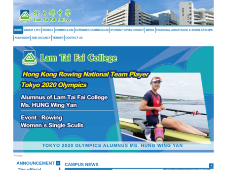 Website Screenshot of Lam Tai Fai College