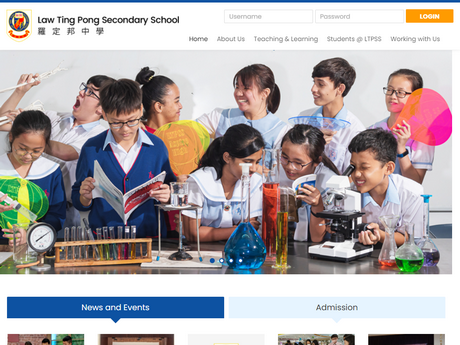 Website Screenshot of Law Ting Pong Secondary School