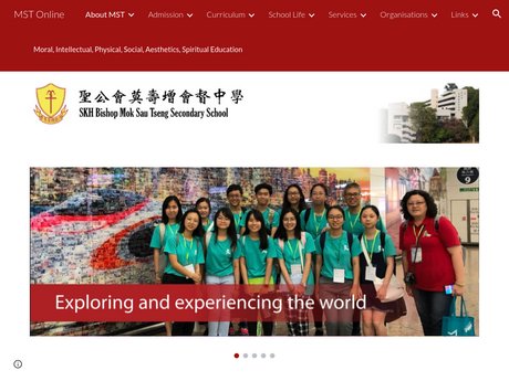 Website Screenshot of SKH Bishop Mok Sau Tseng Secondary School