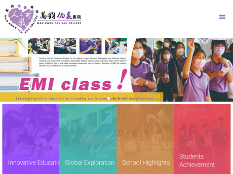 Website Screenshot of Pak Kau College