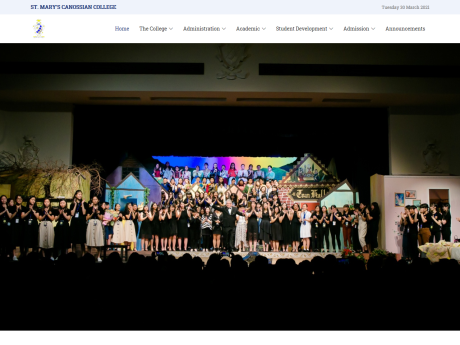 Website Screenshot of St. Mary's Canossian College
