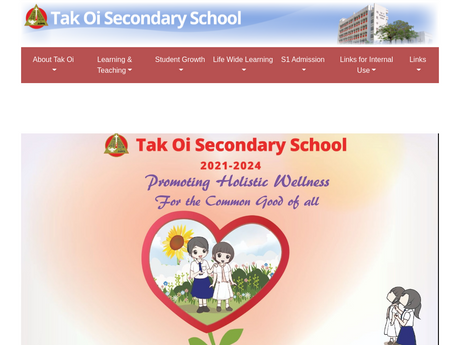 Website Screenshot of Tak Oi Secondary School