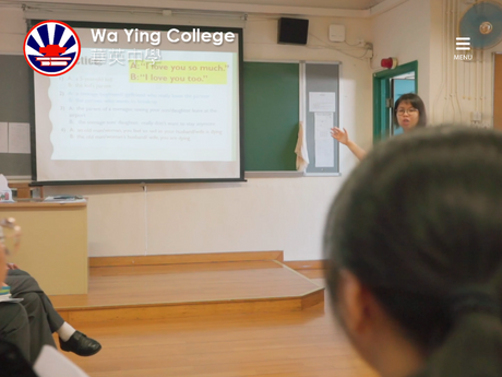 Website Screenshot of Wa Ying College